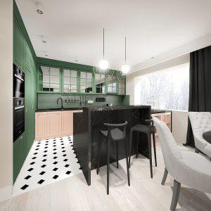 Projekt wnętrz apartamentu w stylu modern classic