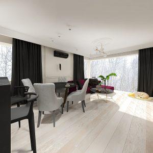 Projekt wnętrz apartamentu w stylu klasycznym